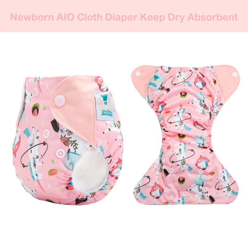 Newborn Cloth Diaper Aio Stay Dry Reusable Diaper Cloth Aio Newborn Diapers