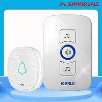 Kerui alta qualidade de segurança em casa sem fio bem-vindo alarme de emergência campainha da porta 433 mhz porta entrada alerta botão à prova dwaterproof água