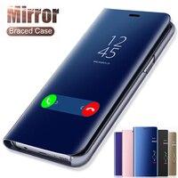 Smart Spiegel Telefon Fall Für Samsung Galaxy S20FE S10 S9 S8 S7 S6 Rand J5 J7 2016 J3 J5 J7 a3 A5 A7 2017 Hinweis 8 9 10 Plus Abdeckung