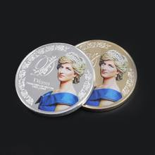 Princess Diana Commemorative Coin Vintage Metal Crafts Collection Gift Souvenior(China)