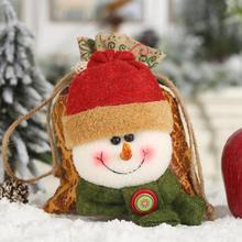Счастливого Рождества кожаный шнурок яблоко мешок креативный 3D дизайн кукла Дети конфеты подарок фестиваль декоративные аксессуары для вечеринок