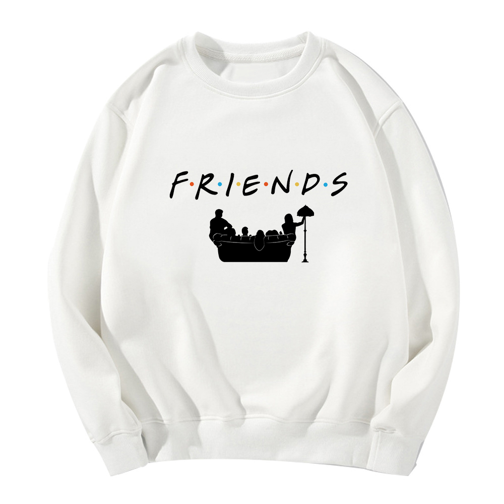 Friends Loose Casual Long Sleeve Hipster Sweatshirt Hoodies Women Gothic Sudadera Mujer Fashion Hot Sale Jacket Jumper