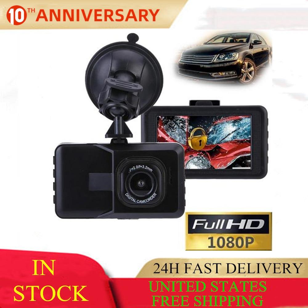 Car DVR Driving Recorder Full HD 1080P 3 Inch Vehicle Camera DVR EDR Dashcam Motion Detection Night Vision G Sensor USB AV-Out