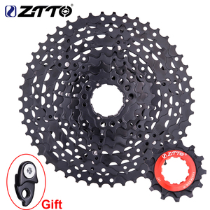 ZTTO MTB 9 Speed 11-46T Bicycle Cassette with Chain wheel Mountain Bike Wide Ratio Sprockets 9s k7 9speed Freewheel Group set