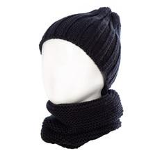 Детская вязаная шапка унисекс из двух предметов, теплая шапка-шарф, зимние аксессуары, шапка и шарф, muts en sjaal kind, шапка s
