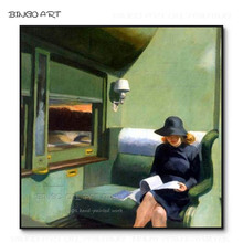Professional Artist Hand-painted High Quality Edward Hopper Compartment Car Oil Painting Reproduce