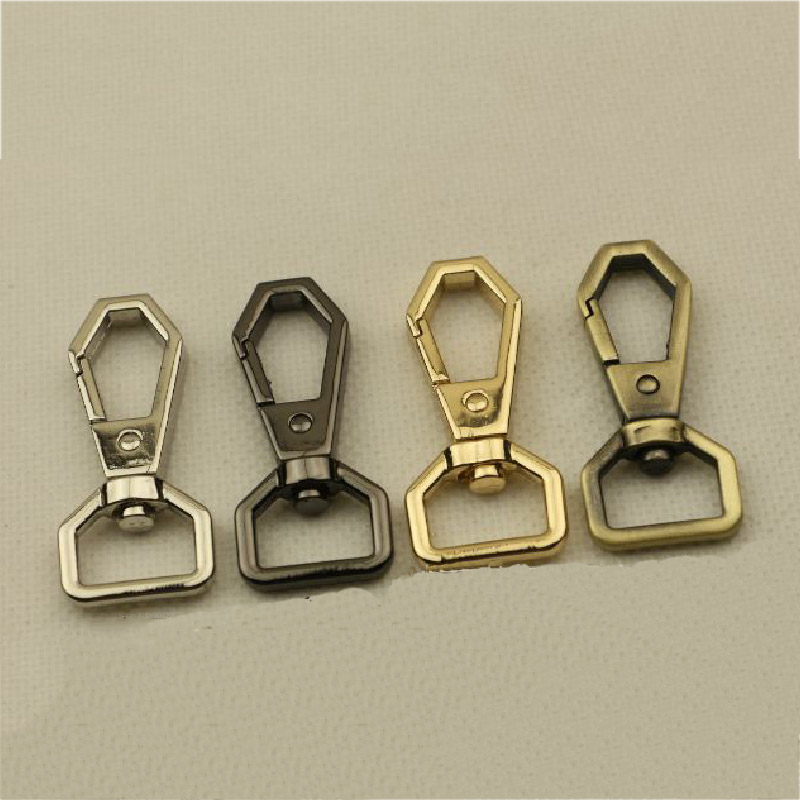 2PCS Metal Polygonal Spring Gate Clasp Clip Women Handbag Clasps Useful Hook Buckle High Quality Clasps For Bags Accessories
