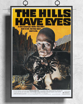 L203 THE HILLS HAVE EYES Movie Horror Wes Craven  Silk Fabric Poster Art Decor Indoor Painting Gift image
