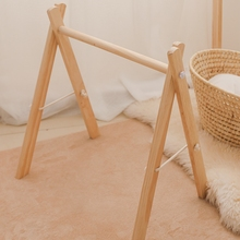 1pc New Nordic style wooden children fitness frame BPA Free Gym Play Frame Nursery Sensory Ring-pull Toy Infant Room Rattle Toy