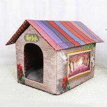 Kennel cat house dog house dog house pet bed autumn and winter warm dog house detachable nest jiahui a038 detachable cotton fabric sponge pet dog cat house kennel red white grey
