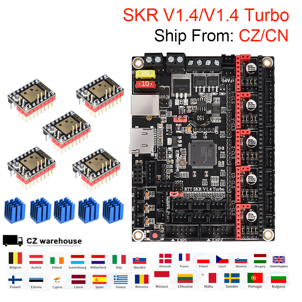 BIGTREETECH SKR V1.4 SKR V1.4 турбо плата управления с драйвером TMC2209 TMC2208 VS SKR V1.3 MKS SGEN детали для 3D принтера Ender 3