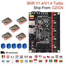 Bigtreetech skr v1.4 skr v1.4 turbo placa de controle com tmc2209 tmc2208 driver vs skr v1.3 mks sgen 3d peças de impressora para ender 3