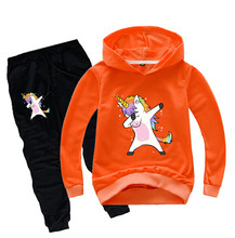 Unicorn Hoodies Kids Sweatshirts Fashion Kids Hooded T Shirt Baby Toddler Girls Coat Kids Clothes Boys Casual Tees Sportswear 6(China)