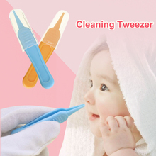 Tweezers Newborn Baby Plastic Nose Cleaner Forceps Remover Navel Body-Safe-Care Ear Infant