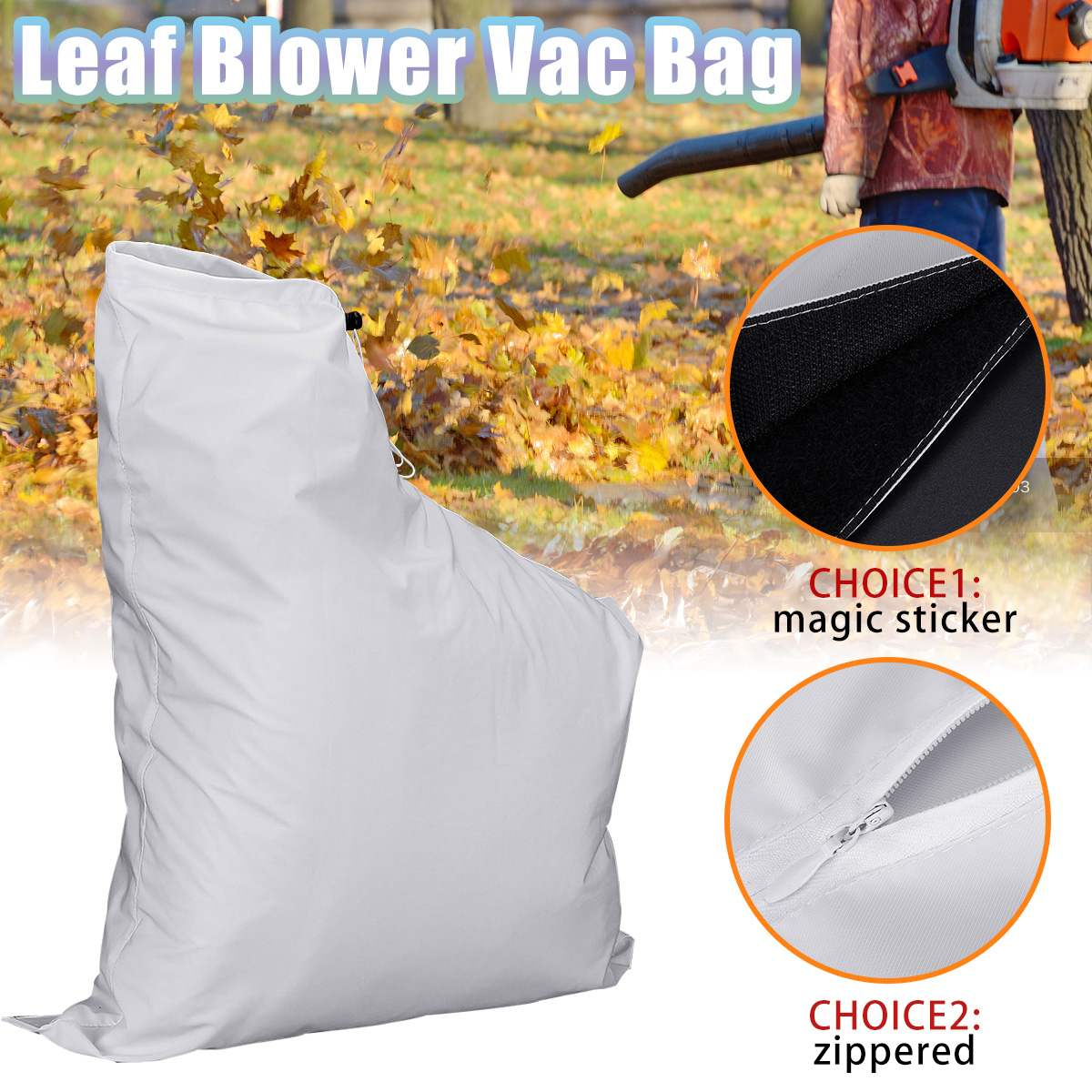 Leaf Blower Vacuum Bag Fit For Weed Eater Barracuda 2595 Type 1 Lawn Yard Shredder Garden Tool Storage Bag Accessories