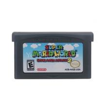 For Nintendo GBA Video Game Cartridge Console Card Super Mari Advance 2 Super Mari Worl  English Language US Version