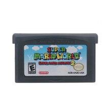 """עבור Nintendo GBA וידאו משחק מחסנית קונסולת כרטיס סופר מארי מראש 2 סופר מארי Worl אנגלית שפה ארה""""ב גרסה"""