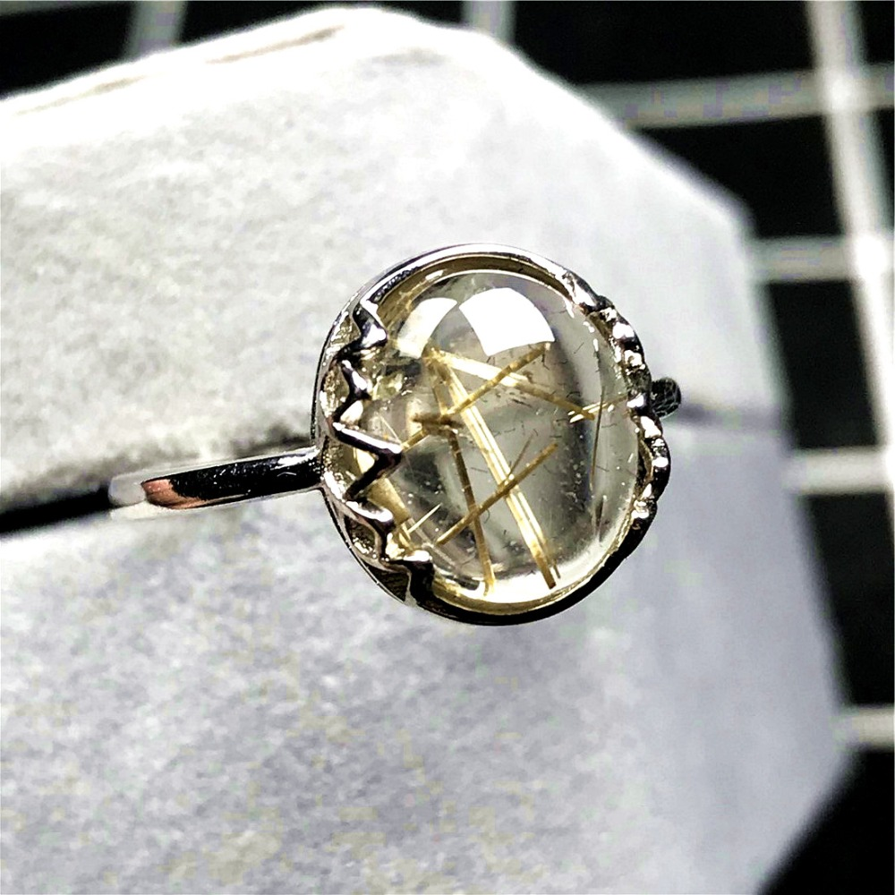 Gold Rutilated Ring (49)