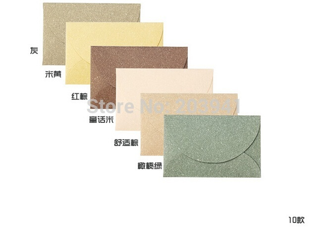10pcs/lot Chic Vintage Mini Style Envelope New Year Greeting Envelope Gift