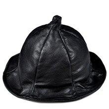 Aorice женская шапка из натуральной кожи Новая модная шапка ведьмы школьная Бейсболка Шапки Черный HL813
