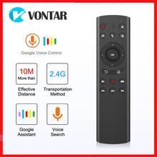 G20 Control remoto por voz de Google Mouse G20S, 2,4G, inalámbrico, micrófono giroscopio de 6 ejes para Android TV BOX TX6S H96 MAX