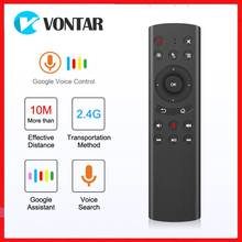 G20 Google Voice Remote Control 2.4G Wireless Air Mouse G20S Microphone 6 axis Gyroscope remote for Android TV BOX TX6S H96 MAX