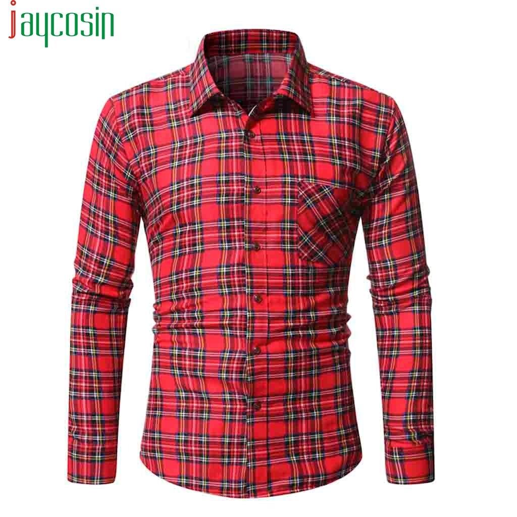 Men/'s Tops Shirts Long Sleeve Casual Fashion Tops Lapel Collar Button Down