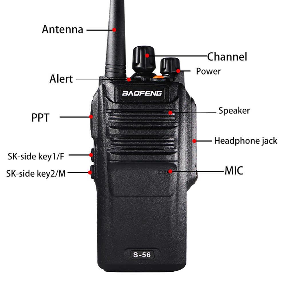 10W Baofeng S-56 UHF Walkie Talkie alta potencia BF-9700 IP67 impermeable CB Ham dos vías Radio HF transceptor S56 actualización de UV-9R Plus