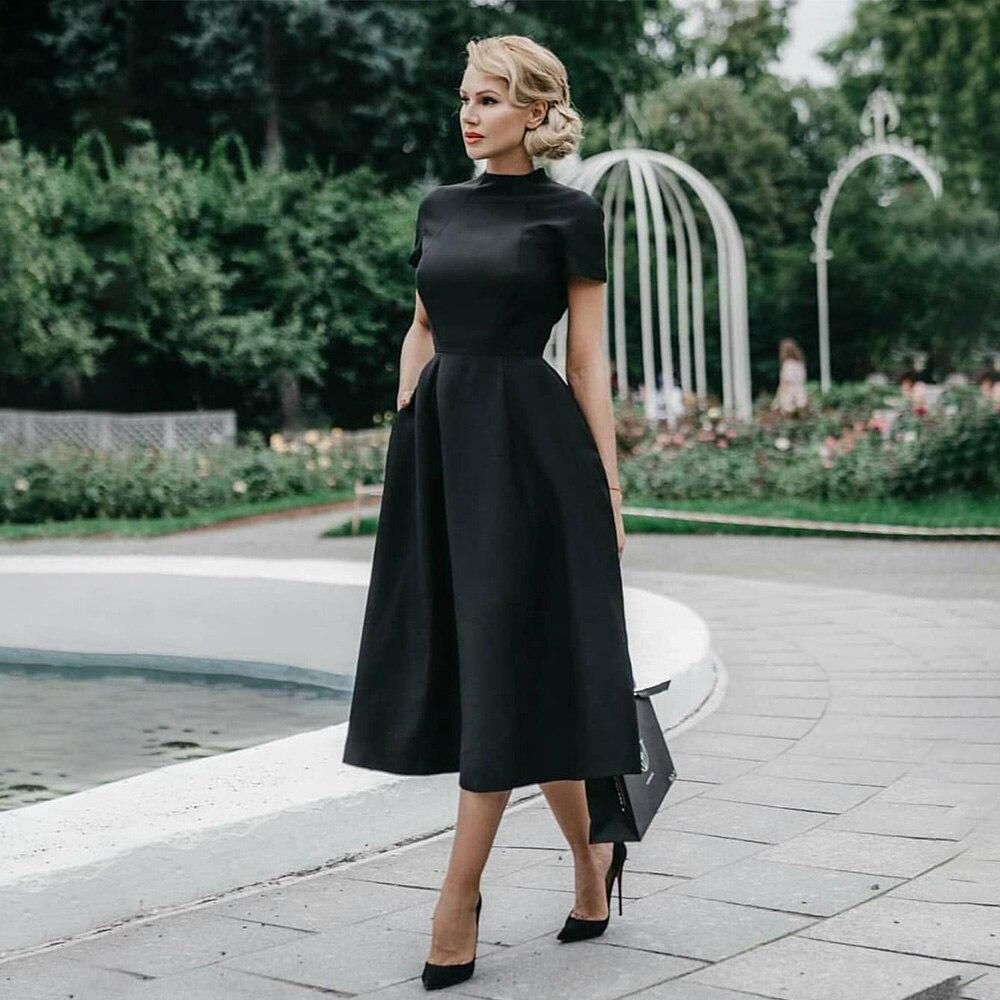 €16.56 25% СКИДКА|Высокое качество Элегантный Платье черного цвета Для женщин Винтаж дамы с пышной юбкой для выпускного вечера вечерние ночное торжественное платье 2019 ретро платья зимние D25|Платья| |  - AliExpress