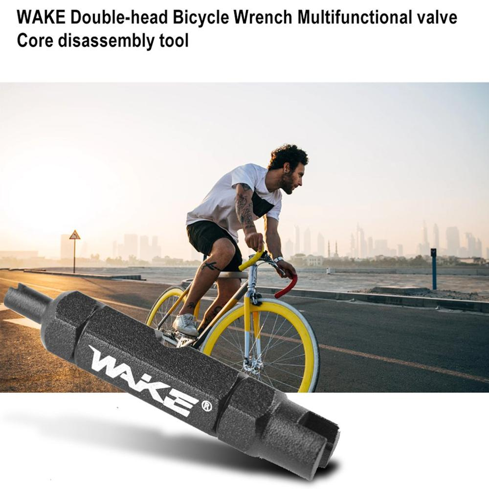 WAKE Double-head Bicycle Wrench Multifunctional valve Core disassembly tool