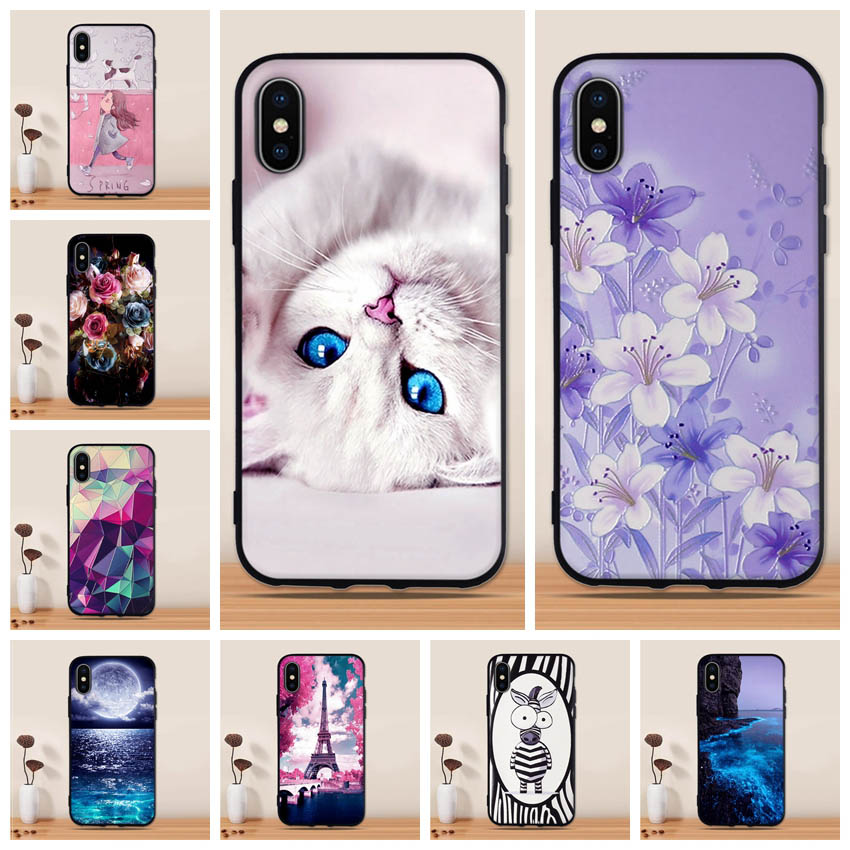 For Fundas <font><b>IPhone</b></font> X Case Soft Silicone TPU 3d Cute Back Cover For Apple <font><b>IPhone</b></font> X A1901 <font><b>A1865</b></font> Case Cover for <font><b>iPhone</b></font> X Case Capas image