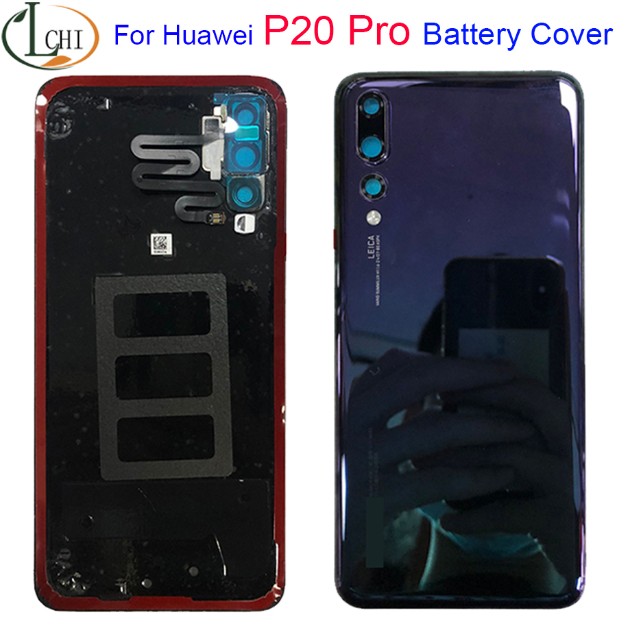 Оригинальный новый стеклянный задний корпус для Huawei P20 Pro, крышка для аккумулятора, задняя крышка для P20 Pro, задняя крышка для телефона, деталь...