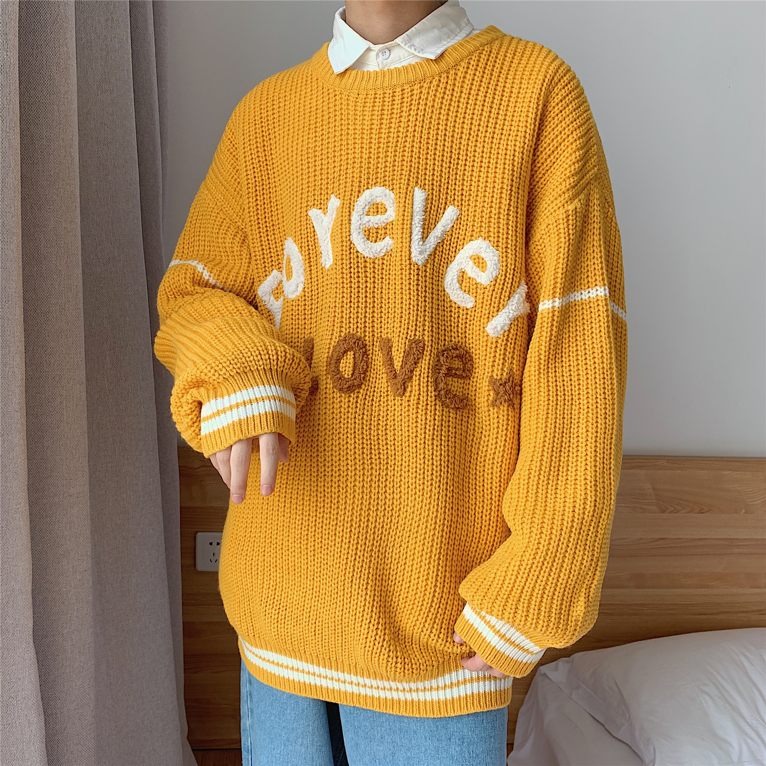 2019 Winter Men's In Warm Coats Cashmere Woolen Sweaters Pullover Casual Brand Fashion Loose Male Knitting Big Size M-5XL