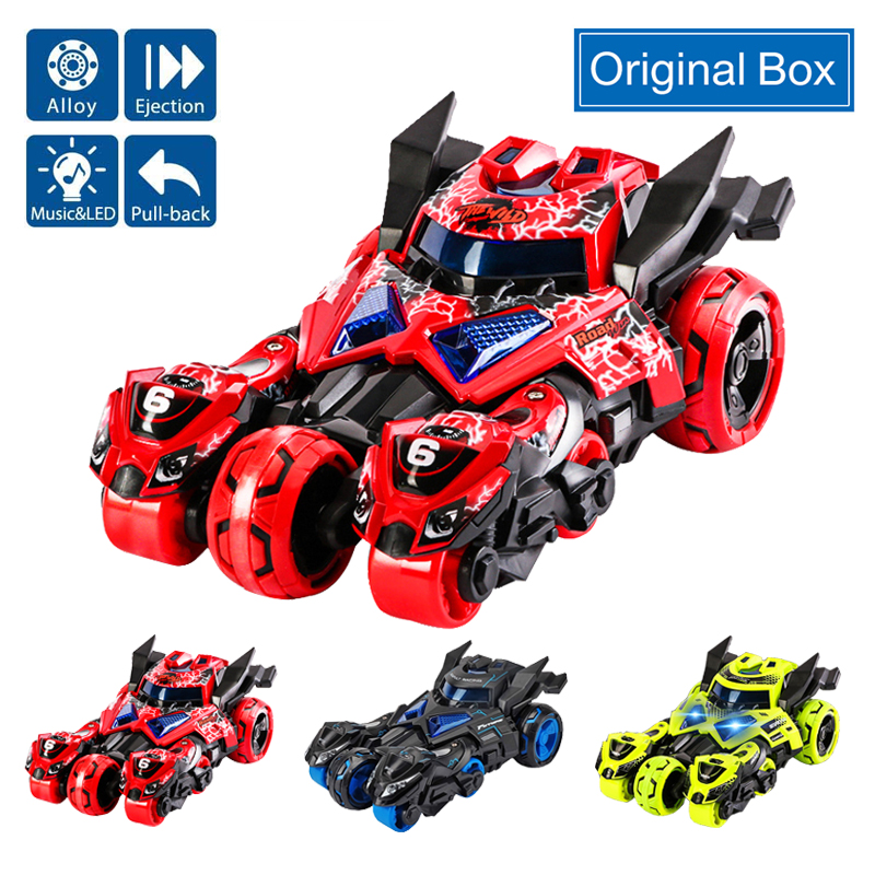1:32 Alloy Car Pull Back Diecast Model Toy Sound Light Collection Brinquedos Eject Car Vehicle Toys For Children Christmas Gift