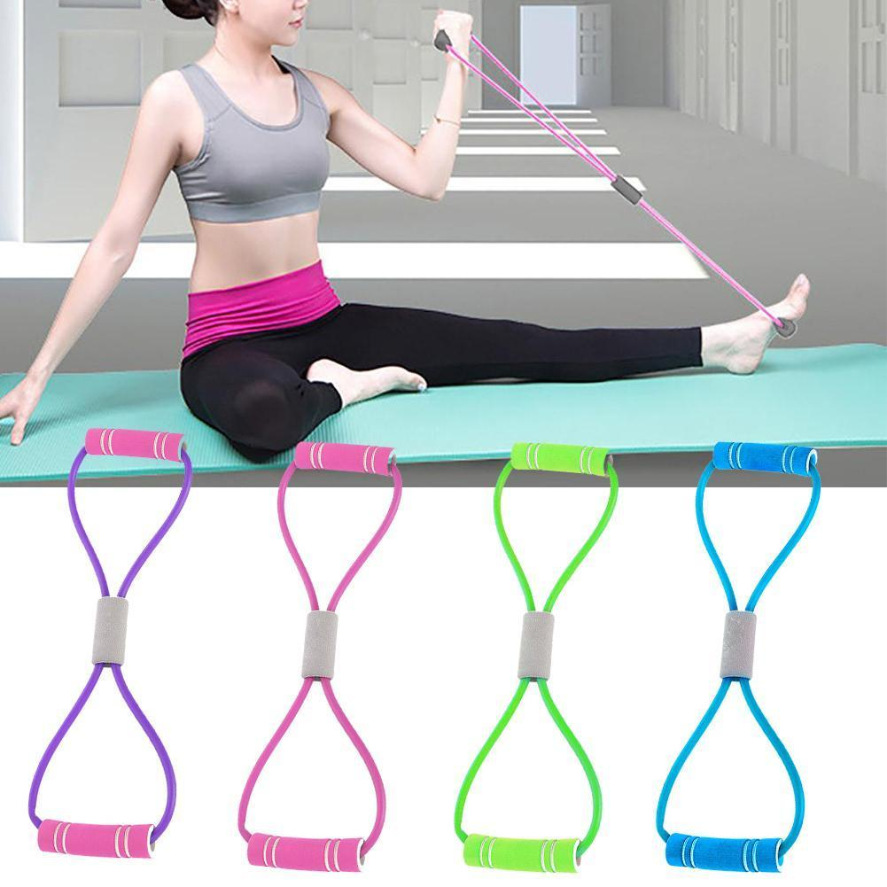 8-shaped Rally Yoga Gel Fitness Resistance 8 Word Chest Exercise Rope Fitness Muscle Exercise Elastic Band Dilator Rubber J3G0