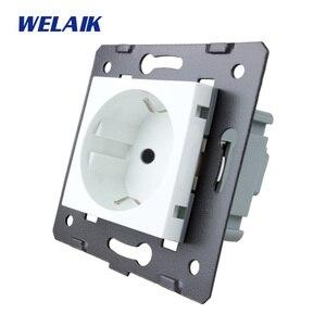 Image 1 - WELAIK EU Standard Power Socket DIY Parts Wall Socket parts Without Glass Panel A8EW/B