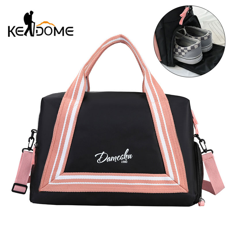 Sports Gym Bag Patchwork Fitness Handbag For Women Men Travel Bags Nylon Shoulder Tote Shoes Sack Sac De Sporttas Gymtas XA307D
