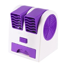 цена на Double Air Outlet Mini Fan USB Charging Portable Desktop Air Conditioning Fan Home Office Dormitory Leafless Cooling Small Fan