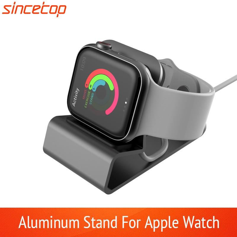 Изысканный алюминиевый силиконовый кронштейн зарядная док-станция зарядный держатель для apple watch подставка серия SE/6/5/4/3/2/138 42 40 44 мм