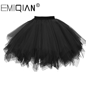 Short Petticoat Tulle Skirts Womens Elastic Stretchy Layers Summer Adult Tutu Skirt Underskirt - discount item  38% OFF Wedding Accessories