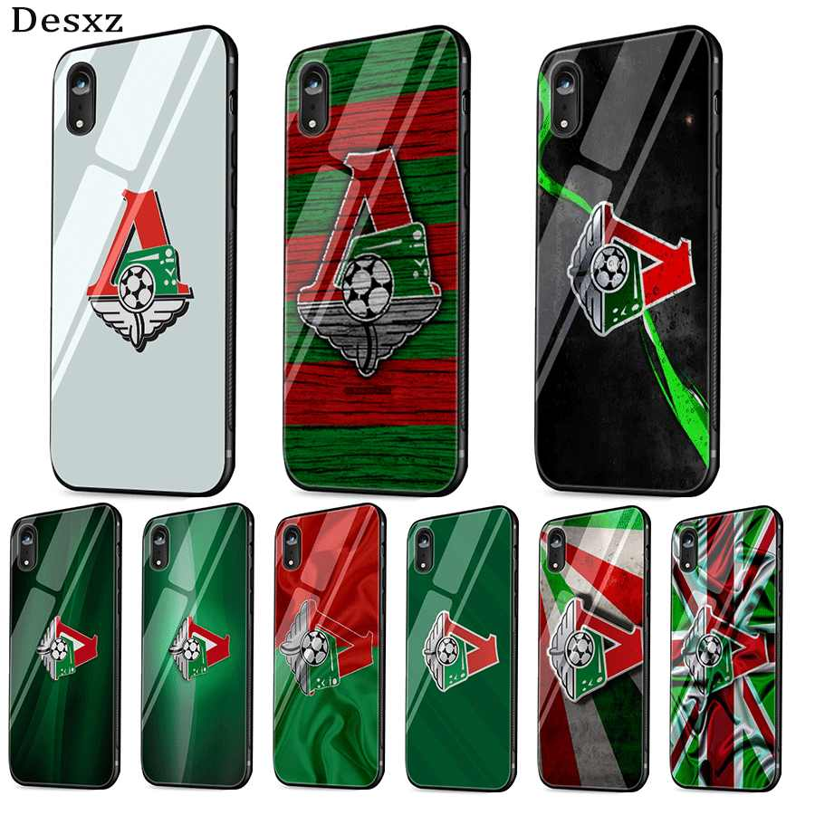 mobile phone case glass for iPhone xr x xs max iPhone 7 8 6 6s Plus cover Moscow locomotive logo