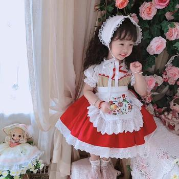 Pre-sale 2020 Summer New Spanish lolita princess dress Embroidery print dress for girls birthday party dress vestidos Y2916