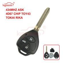 Kigoauto дистанционный ключ с 3 кнопками лезвие toy43 434 МГц