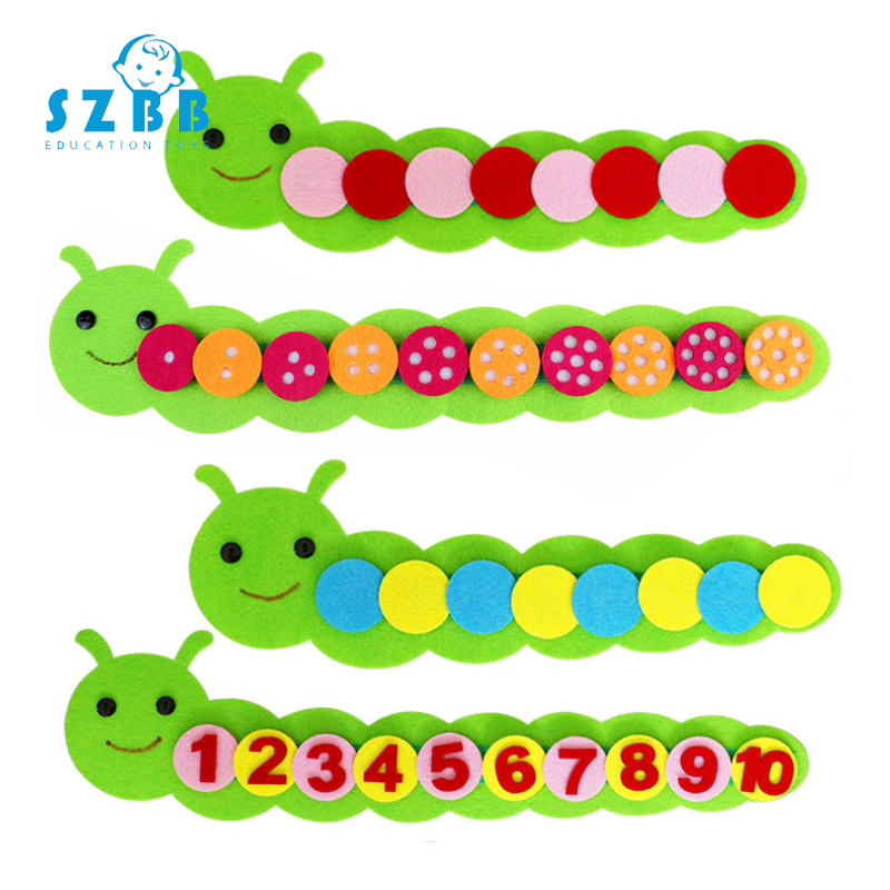 Sz Steam Number Caterpillar Kids Arts Crafts Toy For Children Kindergarten Teaching Aid Manual Diy Weave Cloth Educational Toy