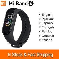 Xiaomi Mi band 4 Wristband Mi Band 4 Global Smart Band Bracelet Fitness Tracker Xiaomi Mi4 Band Heart Rate Monitor SmartBand|Smart Wristbands| |  -