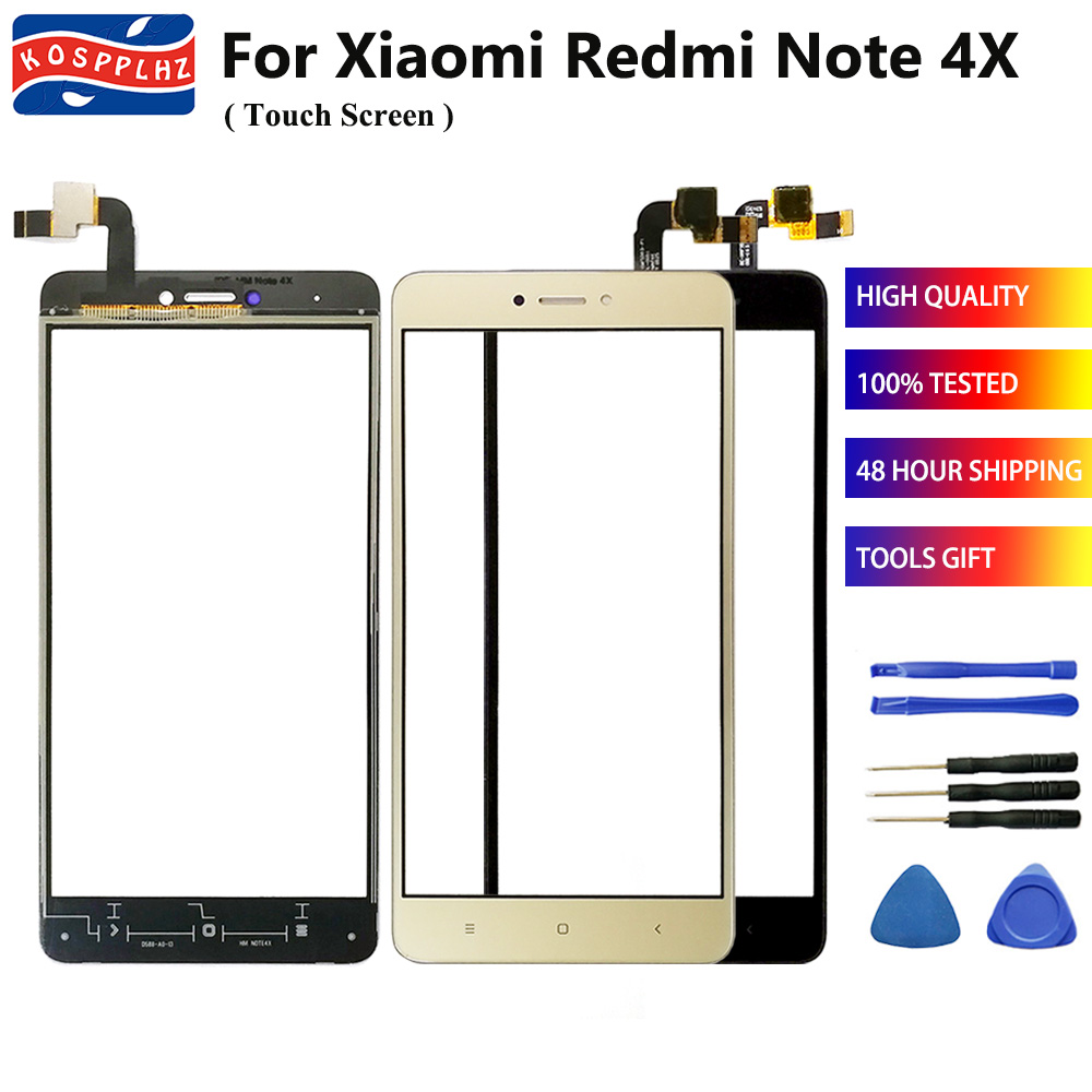 100% Getest Mobiele Telefoon TouchScreen Voor Xiaomi Redmi Note 4X Touch screen Panel 5.5 inch Outer Glas note4x + Gereedschap + Adhesive title=