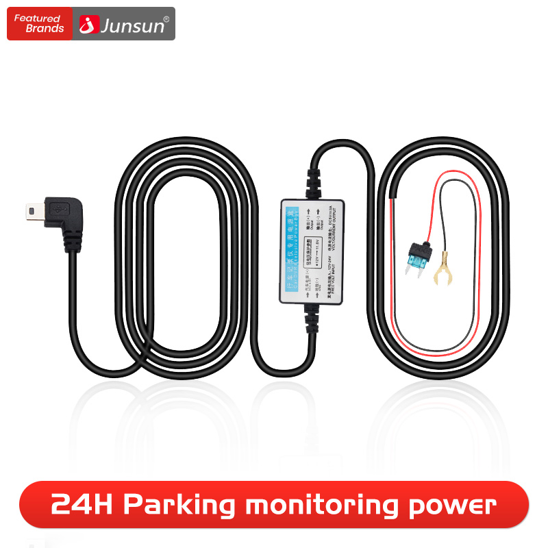 Junsun DC 12/24V 5V 3A 3M Mini USB Car Charger Hard wire Hardwire Kit for Dash Cam Reaview Mirror Camera GPS Auto Charging(China)