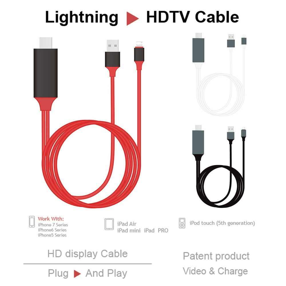 2M OTG Sinkronisasi Data Konektor Eksternal untuk iPhone X Max Ipad Pro 8 Pin Lightning untuk HDMI TV Proyektor kamera USB Kabel Adaptor