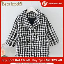 Coats Jackets Spring Girls Outerwear Clothing Plaid Autumn Baby Kids Bear Children New-Fashion