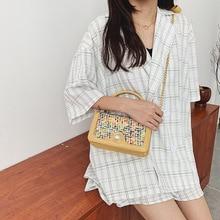 2019 Fashion Pearl Luxury Handbags Women Bags Designer Muticolor Leather Tote for Chain Shoulder Crossbody Bag Female